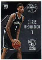 2015-16 Panini Totally Certified Rookies RC #191 Chris McCullough Nets
