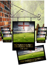 Personalised Rugby custom theme illuminated sign,35 x 28 pack with mirror