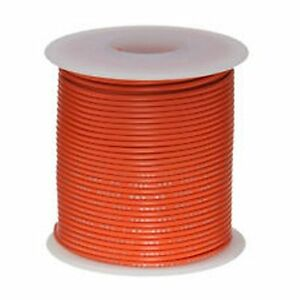 24 AWG Gauge Orange 280' FT UL1007 Tinned Copper Hook Up Primary Wire USA MADE