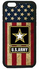 US Army USA Military Flag Black Case Cover for iPhone 4 4s 5 5s 5c 6 6 Plus