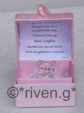 DAUGHTER@KEEPSAKE @TEDDY Bear@ROSES @SPECIAL verse@22KT Gold@Unique Gift@BIRTHDAY