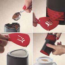 Aerolatte Cappuccino Artist Stencil, Release Your Inner Barista Six Fun Designs