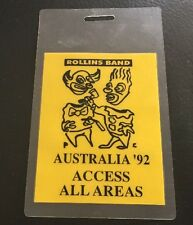 HENRY ROLLINS BAND 1992 Tour Laminate