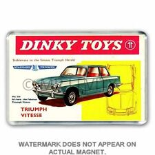 RETRO DINKY TOYS - TRIUMPH VITESSE - ADVERT ART JUMBO Fridge / Locker Magnet