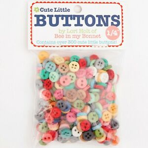 "Cute Little Buttons Bag #1 300 1/4"" buttons by Lori Holt for Riley Blake Designs"