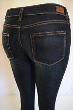 NEW PAIGE Denim SKYLINE SKINNY  mid-rise Jeans Woman SZ 24 IN CARSON DARK BLUE