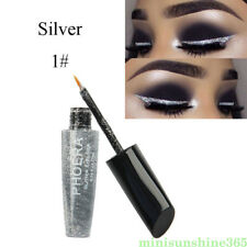 Women Silver Glitter Eyeliner Liquid Eye Shadow Long Lasting Wedding Party Decor