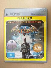 Batman Arkham Asylum GOTY - PS3 - Very Good Condition - Free Postage