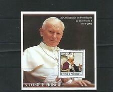 O) 2003 SAO TOME AND PRINCIPE, POPE JOHN PAUL II, SOUVENIR MNH