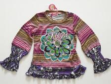 (61) NOLITA POCKET Girls mix di materiali SHIRT + Logo Ricamato & Fiore di seta gr.116