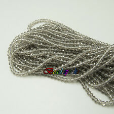 One Long Strand 4×3 mm Gray Small Rondelle Glass Crystal Beads CC121