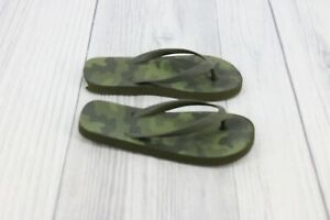 Big Boys Flip Flops Thongs Sandals Shoes Size 13-1 Camouflage Army Green