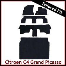 CITROEN C4 GRAND PICASSO Mk1 2006-2013 Tappeto SU MISURA tappetini AUTO & Stivale Nero