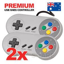2x USB Super Nintendo SNES Controller For PC Mac Emulator Super Windows GamePad