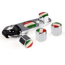 Car Wheel Tire Valve Stem Air Cap Italy Italian Flag Emblem KeyChain For VW BMW