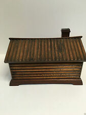 Figural Log Cabin Cigar Box