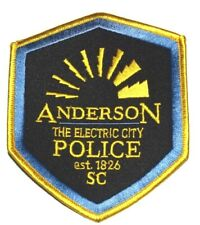 ANDERSON SOUTH CAROLINA SC Sheriff Police Patch ELECTRIC CITY ~