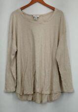 Camisas y tops de mujer de manga larga color principal beige de 100% algodón