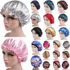 Silk Satin Night Sleep Cap Hair Care Beauty Bonnet Hat Head Cover Elastic Band Z