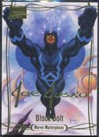 2016 Marvel Masterpieces Gold Signature Trading Card #37 Black Bolt /1499