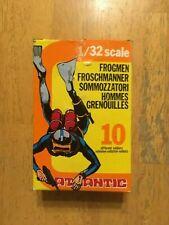 Atlantic sommozzatori 1/32 Frogmen in yellow box -Vintage complete set figures