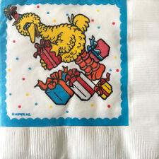 SESAME STREET Big Bird Birthday SMALL NAPKINS (20) ~ Party Supplies Cake Dessert
