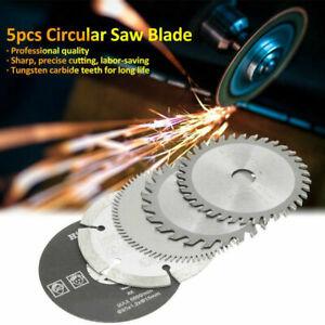 5x Mini Carbide Circular Saw Blade 85mm Inner Dia 10mm Disc Cutting Tool Set MU#