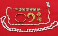 Lot of 5 Vintage Monet Jewelry Brooch Earrings Pin Bracelet Necklace Set 468h
