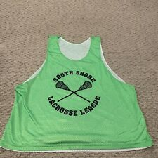 South Shore Lacrosse League Neon Green Lax Jersey Tank Top Mens 2XL