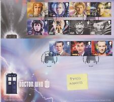 TALLENTS PMK GB ROYAL MAIL FDC 2013 DOCTOR DR WHO COVER STAMP SET ON 2 COVERS