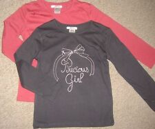 Long Sleeve Crew Neck Graphic 100% Cotton Girls' T-Shirts & Tops (2-16 Years)