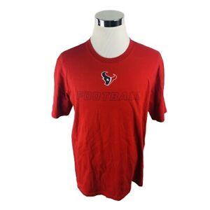 Nike Houston Texas NFL Equipment Short Sleeve Red T-Shirt Men's XL X-Large