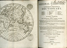1808 -  General Gazetteer or Geographical Dictionary - maps  -  Dublin printed.