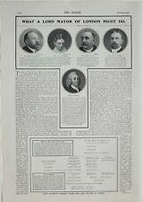 1901 Aufdruck Mayor von London Baron Dimsdale Mr Sheriff Glocke Marshall