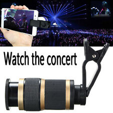 8X HD Zoom Optical Lens Telescope + Clip For Universal Camera Mobile Cell Phone