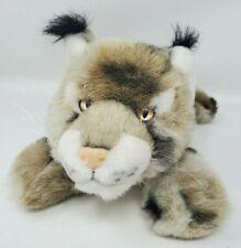 "Aurora Flopsies Bobby Bobcat Lynx Baby Soft 15"" Bean Filled Huggable Plush EUC"