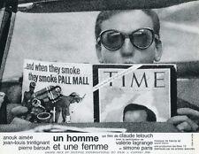 JEAN-LOUIS TRINTIGANT UN HOMME ET UNE FEMME 1966 VINTAGE LOBBY CARD #15