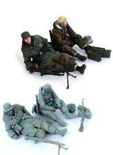1/35 Allemand de la seconde guerre mondiale soldats SS au repos en résine modèle kit (2 figures)