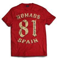 01 Hells Angels Nomads Spain Support 81 T-Shirt Vintage Big Red Machine 666