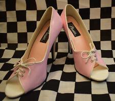 Pleaser USA Pumps rosa für 50er Rockabella Lack Rockabilly Party Shoes