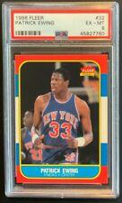 1986 Fleer Patrick Ewing HOF ROOKIE RC #32 PSA 6 EX-MT.  Knicks. Brand New Case!