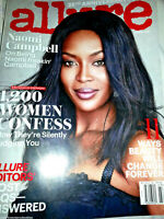 ALLURE MAGAZINE March 2016 NAOMI CAMPBELL Fashion Beauty 25TH ANNIVERSARY ISSUE