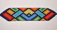 Glass Seed Bead South American Loom Work Ceremony Bracelet, Colombian Beadwork