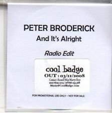 (M831) Peter Broderick, And It's Alright - DJ CD