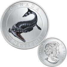 2013 Canada 25-Cent Dinosaur Glow-in-the-dark Coin - Tylosaurus Pembinensis