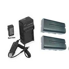TWO 2X Batteries + Charger for Sony HVR-Z5 HVR-Z5U HVR-Z5E HVR-Z5J DCR-SD1000E