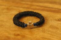 Elastic Orthodox Chotki Bracelet Prayer Rope Komboskini Metal Cross Blue Bead