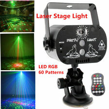 Laser Stage Lighting 60 Patterns RGB LED USB Projector Light Party Disco U`King