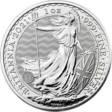 More details for 2021 silver britannia 1 oz silver bullion coin in clear cover .999 cgt free