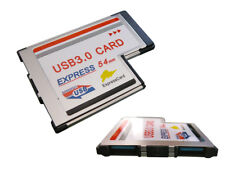 Carte EXPRESSCARD 54mm USB3.0 USB 3 SUPERSPEED 2 PORTS - Affleurante FLUSH MOUNT